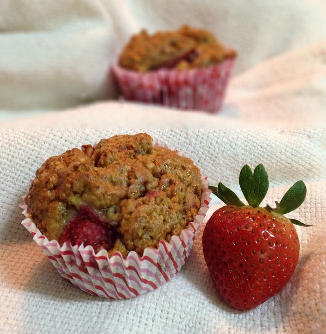 Muffins de Morango sem glúten