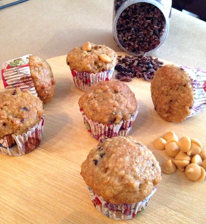 Mini-Muffins de Amêndoas, Maple e Cacau Nibs sem glúten!!