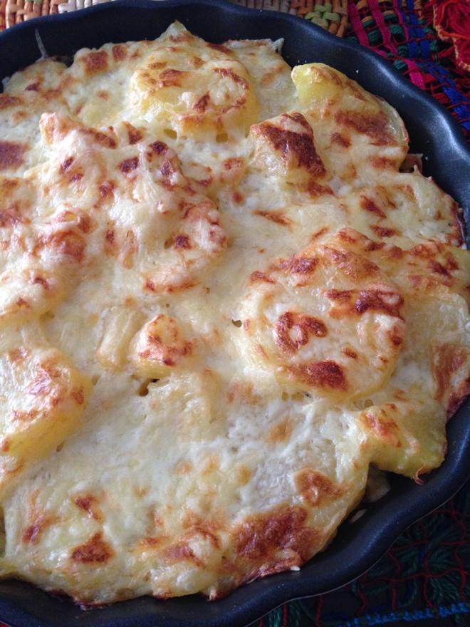 Gratinado de Batata, Frango desfiado e milho!