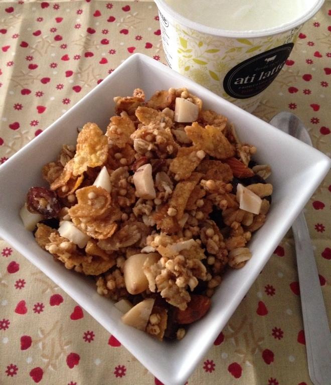 Granola de cereais e castanhas com maple sem glúten